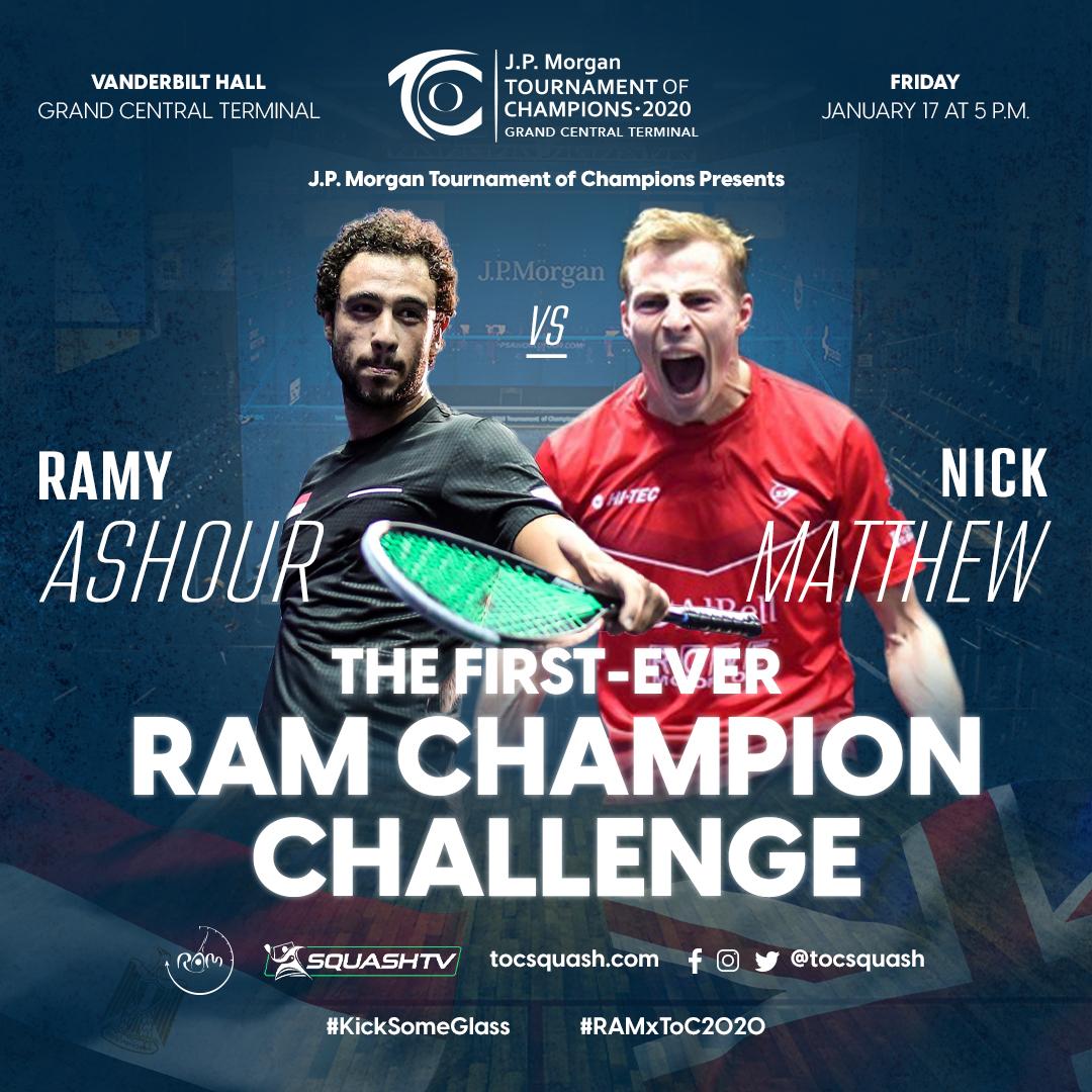 Ramy Ashour vs. Nick Matthew – RAM Champion Challenge